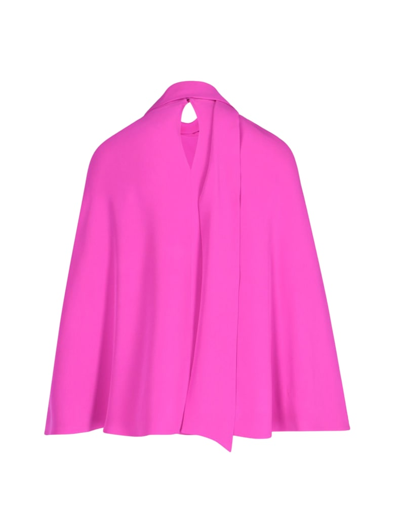 Valentino Hood Top In Cady Couture - U Radiant Orchid