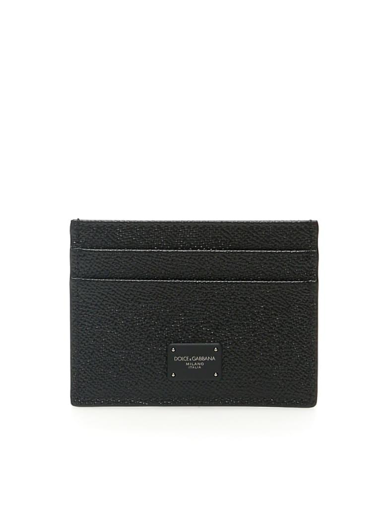 Dolce & Gabbana Dauphine Calfskin Cardholder - Nero