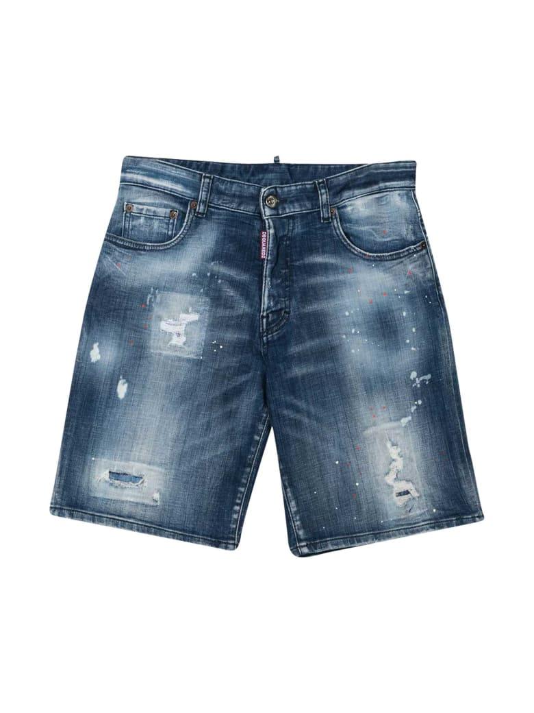Dsquared2 Teen Denim Shorts - Denim