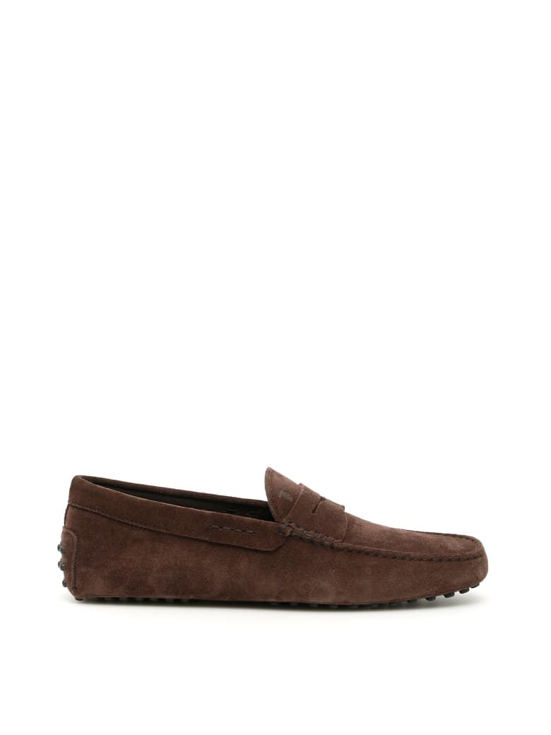 Tod's Suede Gommino Loafers - ALTRAVERSIONE (Brown)