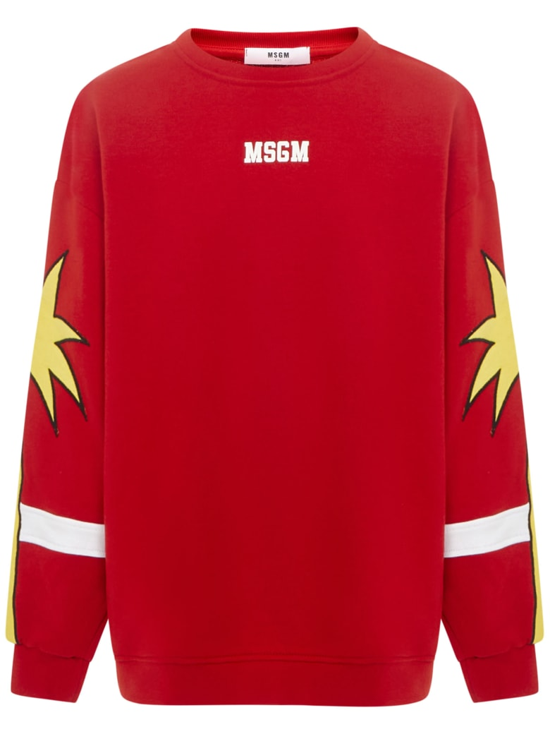 MSGM Kids Sweatshirt - Red