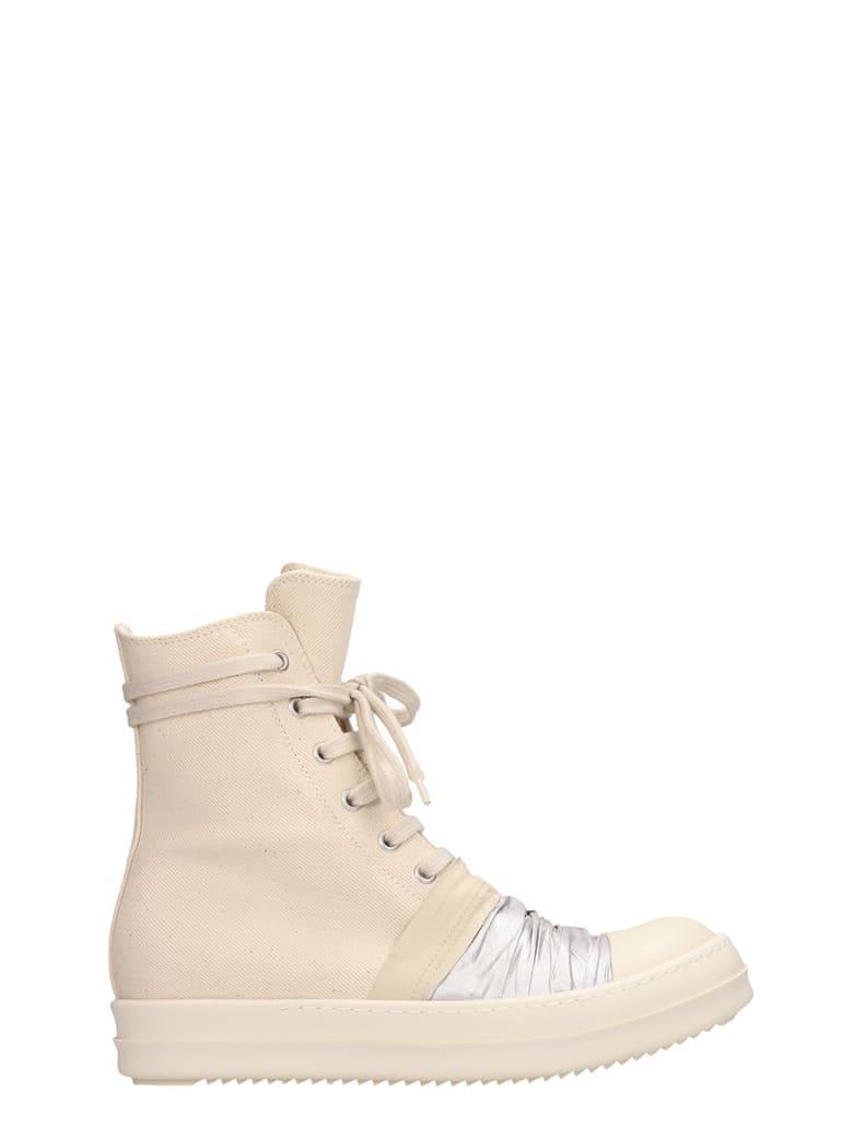 DRKSHDW White Canvas Draped Sneakers - beige