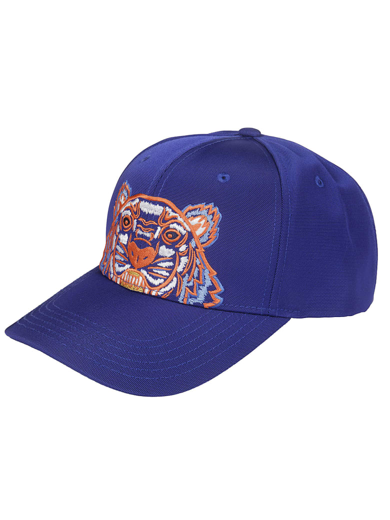 Kenzo Embroidered Tiger Cap - blue