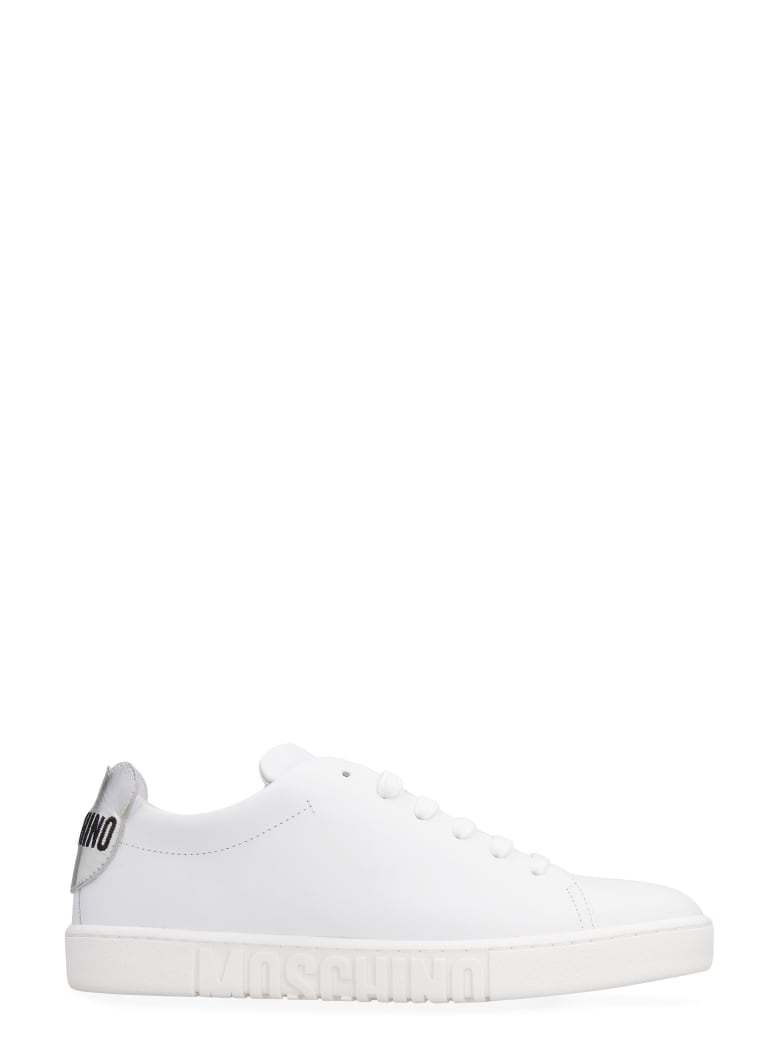 Moschino Leather Low-top Sneakers - White