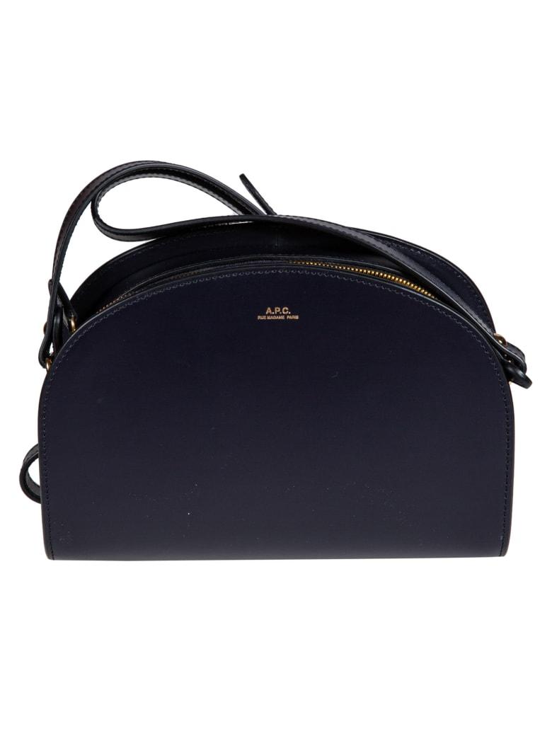 A.P.C. Demi Lune Shoulder Bag - Dark Navy