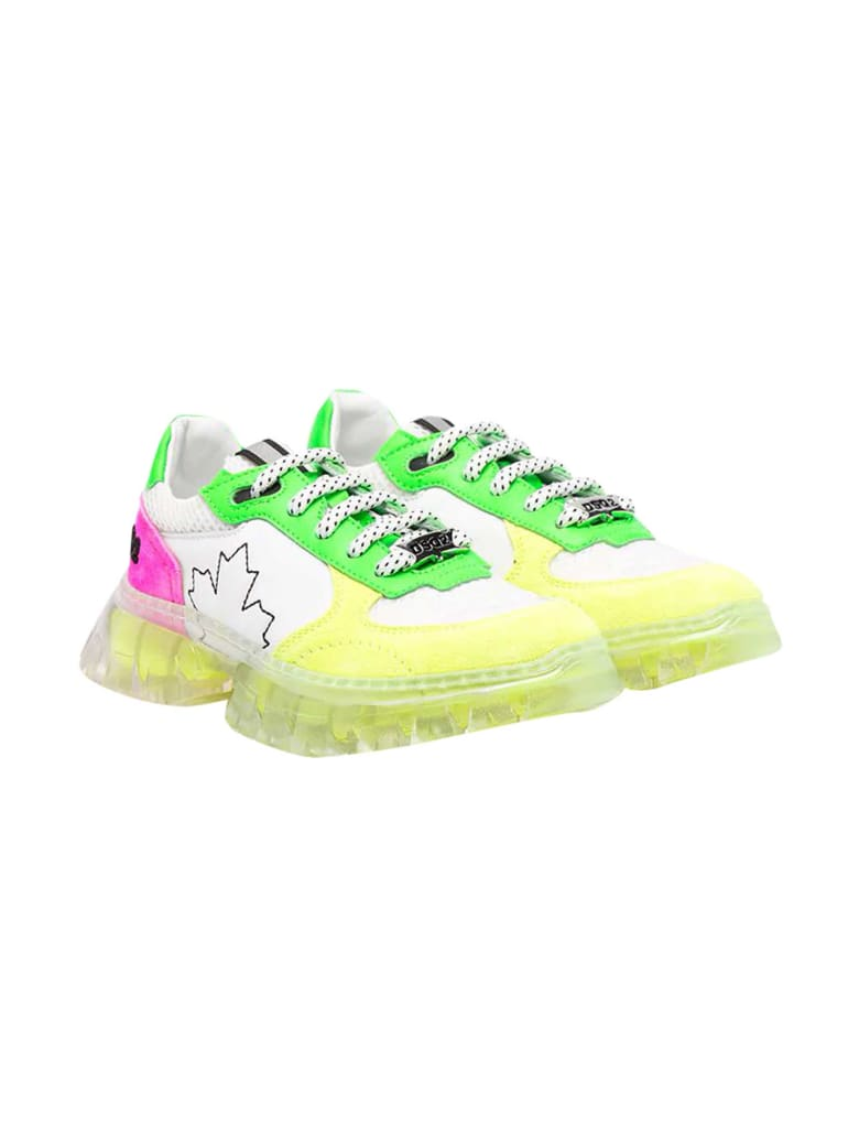 Dsquared2 Sneakers With Color-block Design