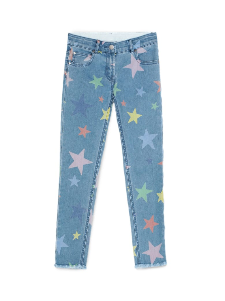 Stella McCartney Multicolour Stars Skinny Denim Trousers - Denim