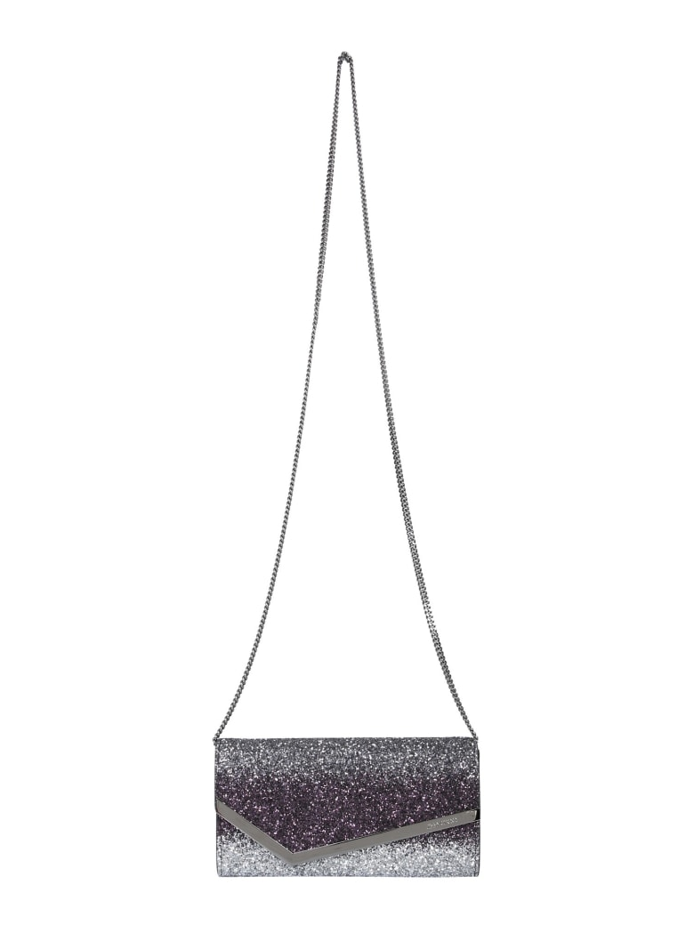 Jimmy Choo Emmie Shoulder Bag - ARGENTO