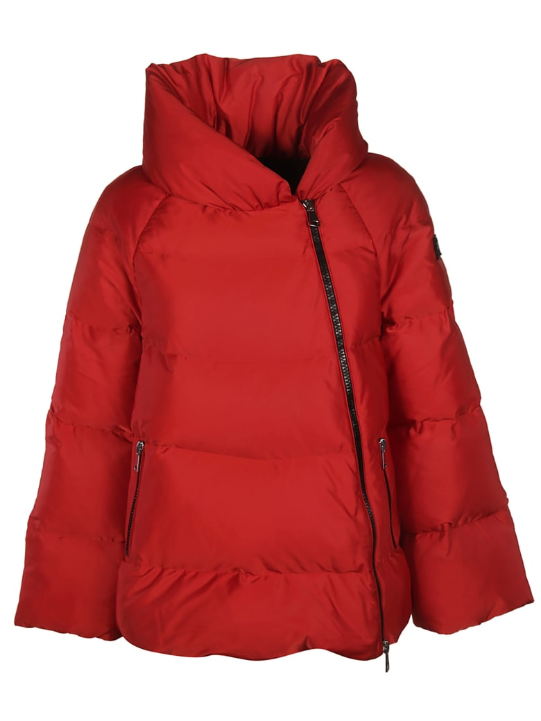 Ermanno Scervino Zipped Padded Jacket - red