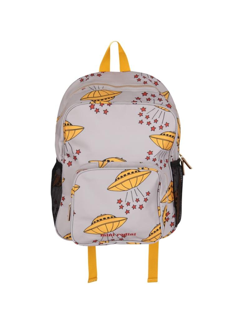 Mini Rodini Grey Kids Backpack With Yellow Ufo - Grey