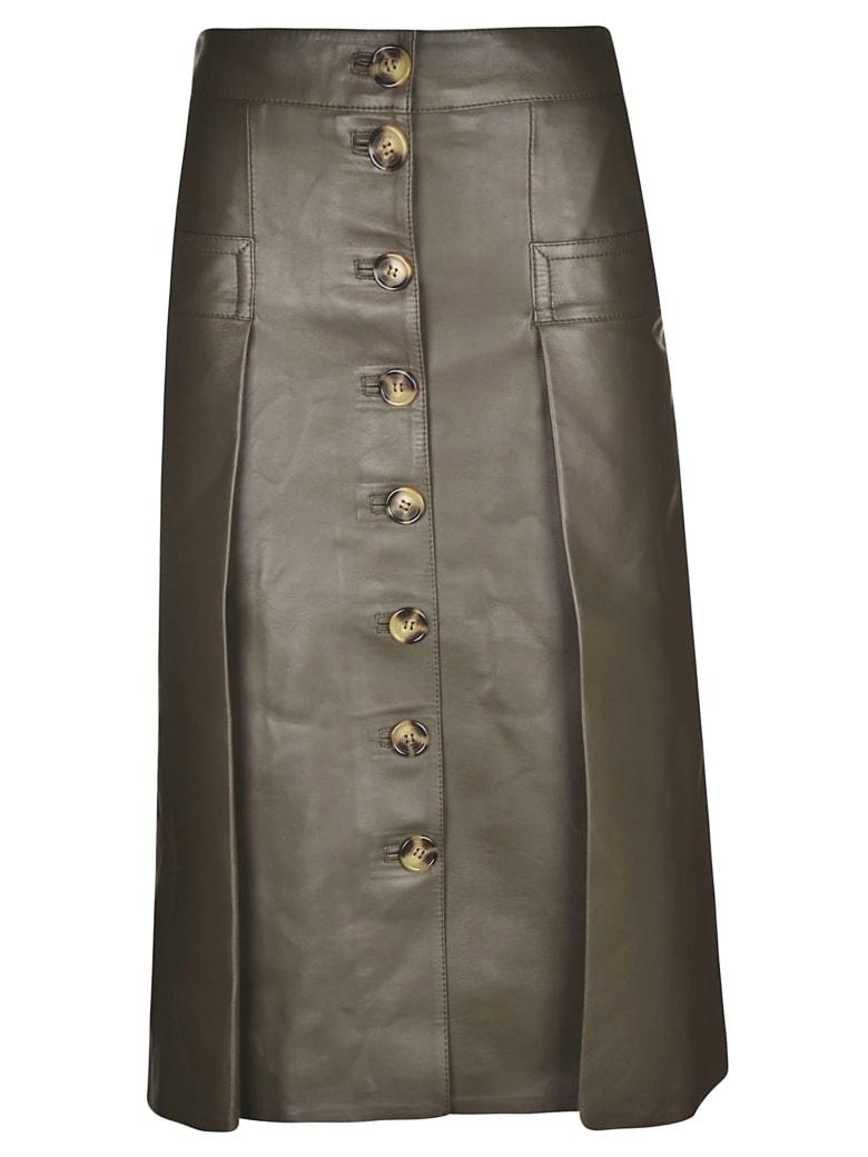 Dodo Bar Or Buttoned Long Skirt - Green