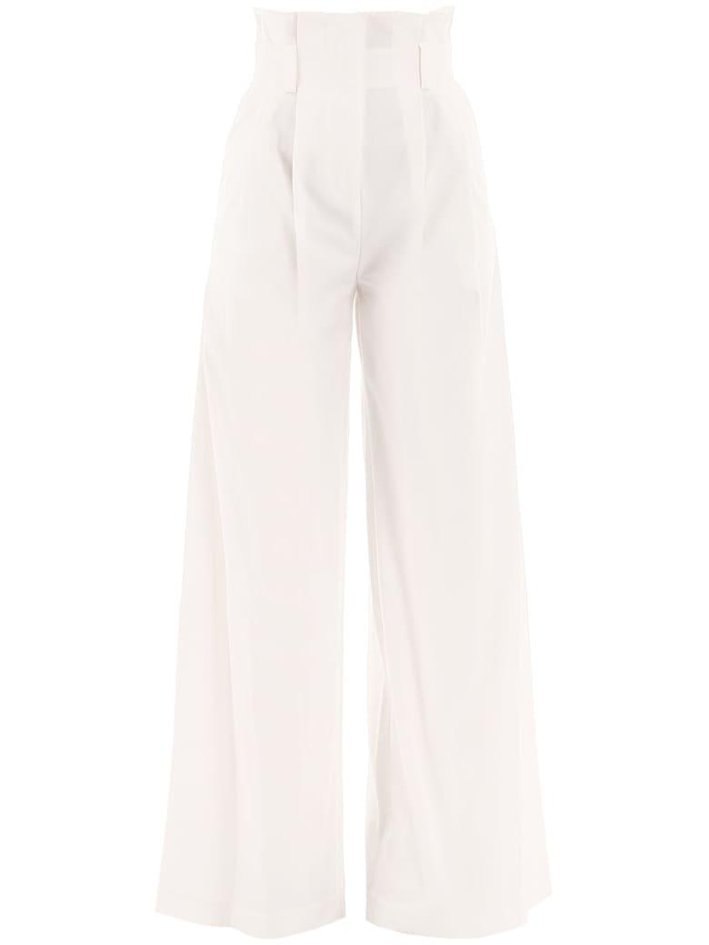 A.W.A.K.E. Mode High-waist Flared Pants - OFF WHITE (White)