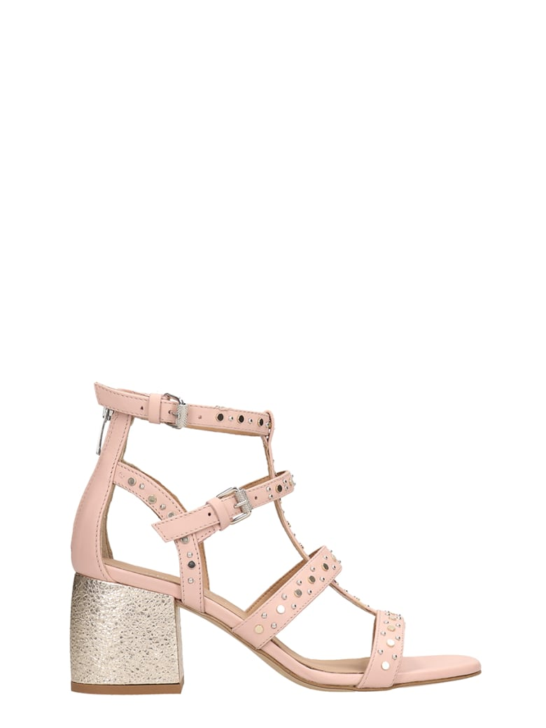 Janet & Janet Powder Leather Sandals - powder