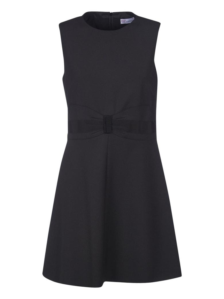 RED Valentino Rear Zipped Sleeveless Dress - Black