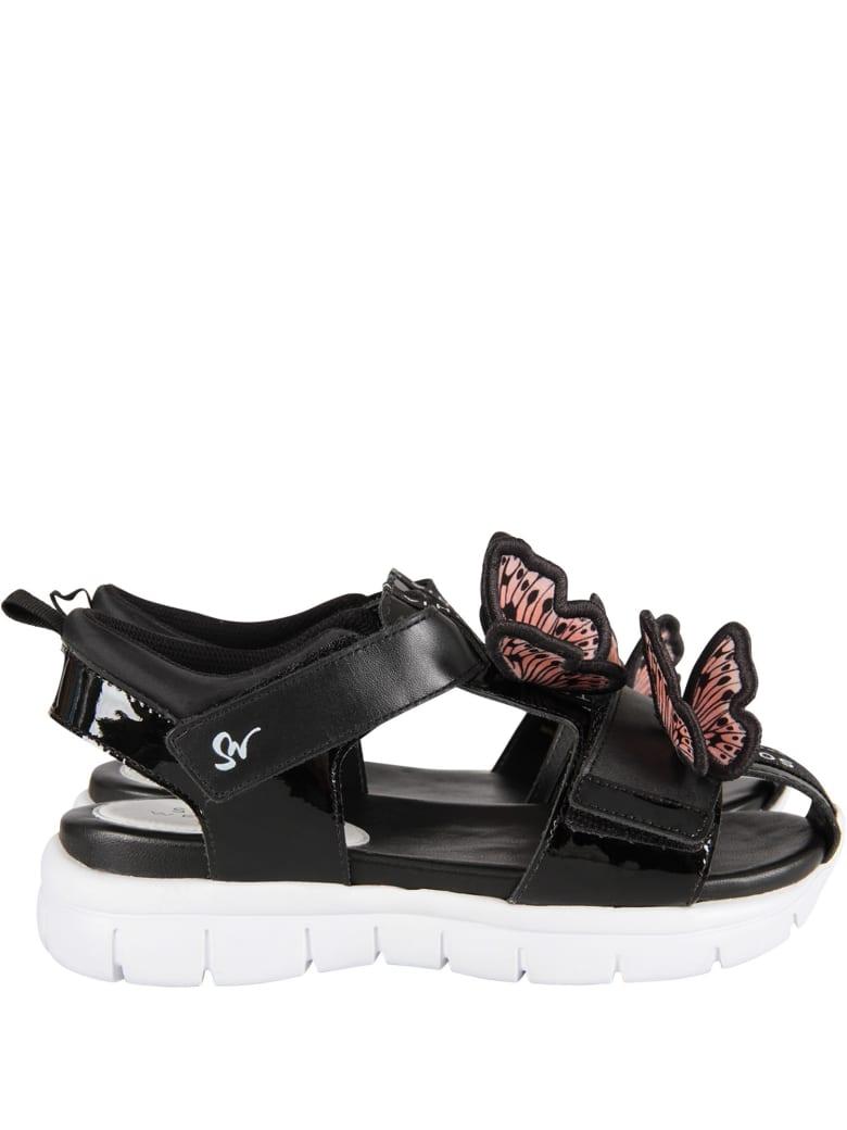 Sophia Webster Mini Black ''riva Wavy'' Sandals - Black
