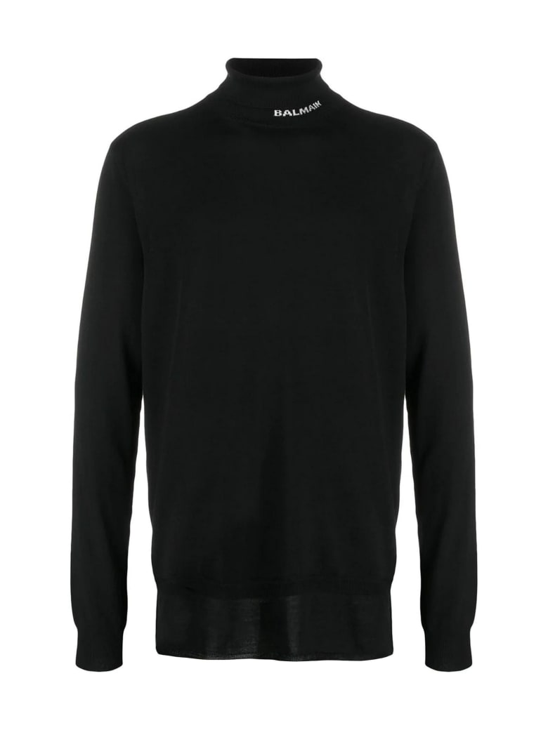 Balmain Black Virgin Wool Jumper - Nero