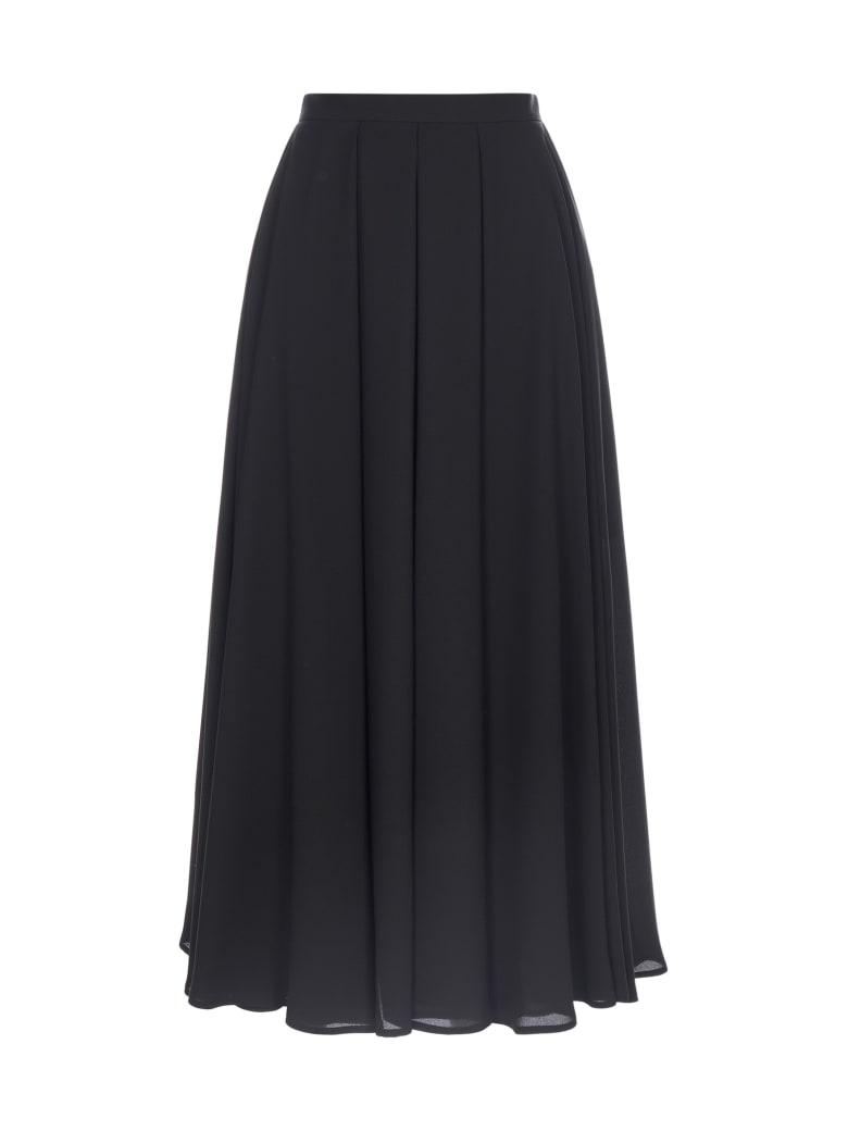 Blanca Vita Guendalina Pleated Midi Skirt - Onice