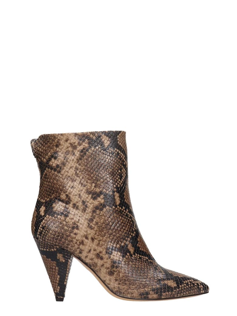 The Seller High Heels Ankle Boots In Brown Leather - brown