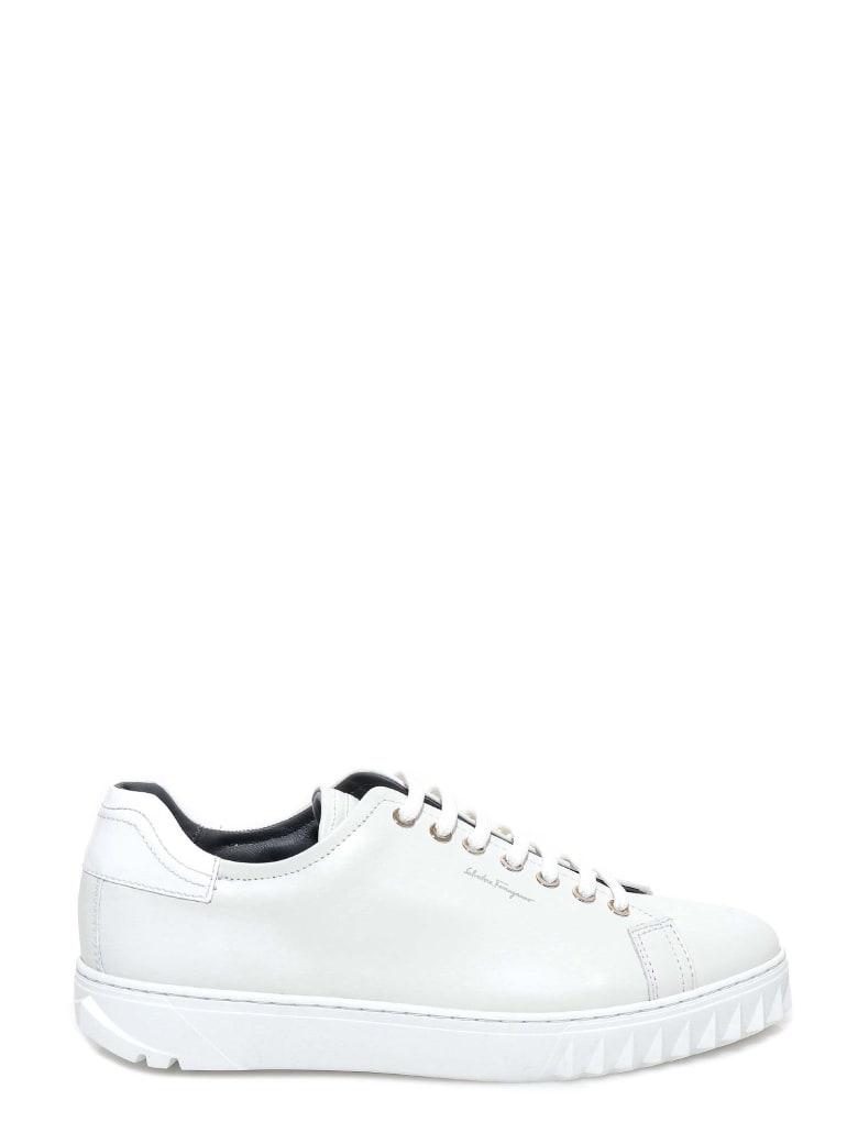 Salvatore Ferragamo Cube Sneakers - White