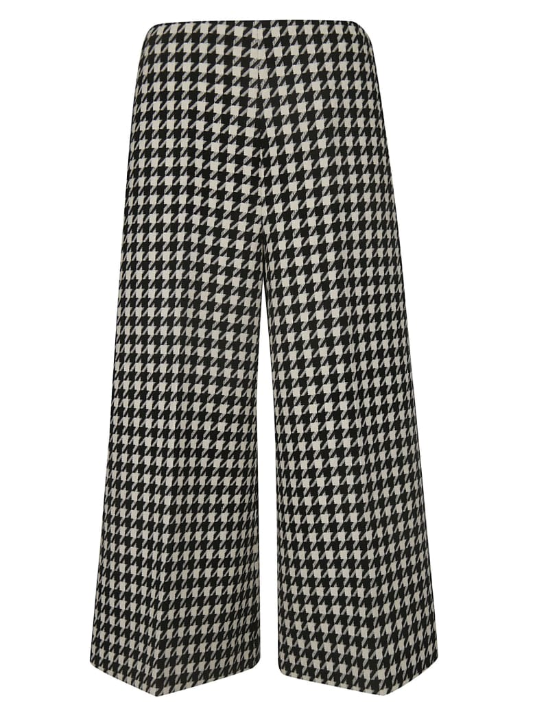 Gucci Houndstooth Trousers - Black Bone