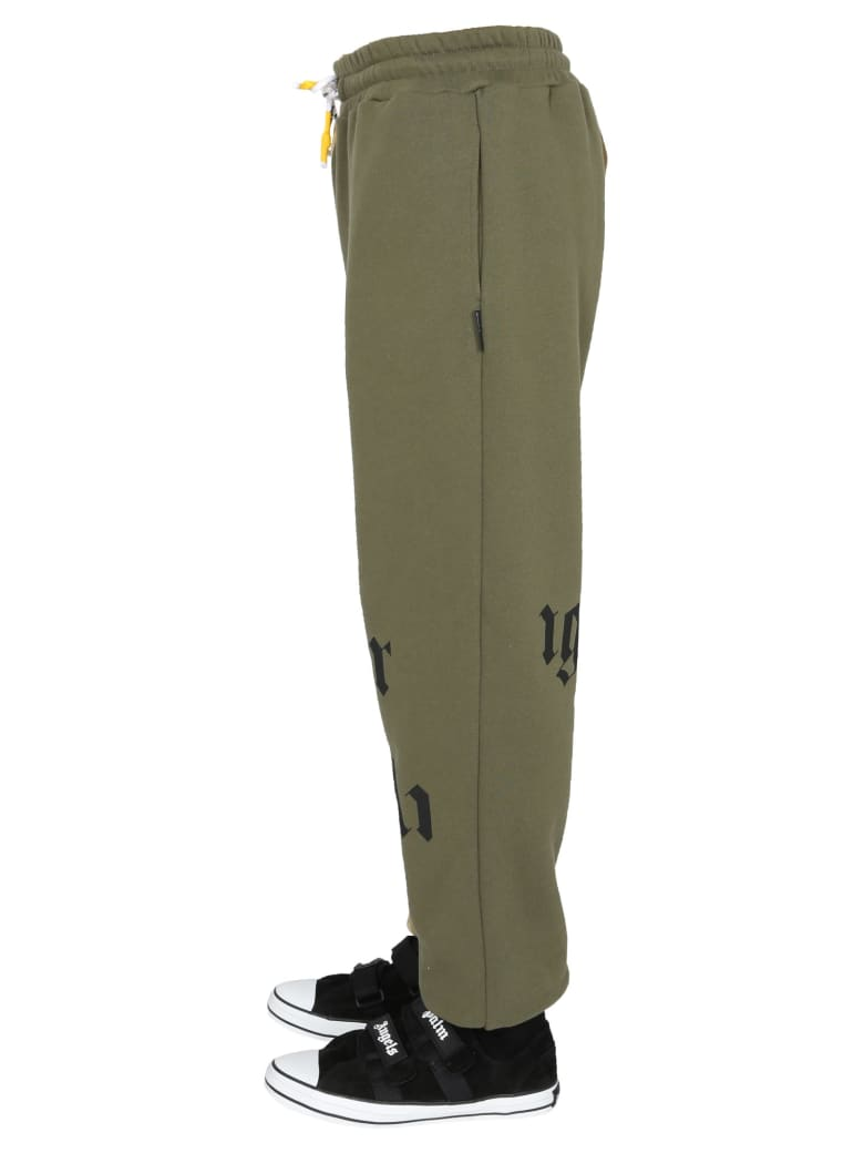 Palm Angels Pants With Logo - Verde