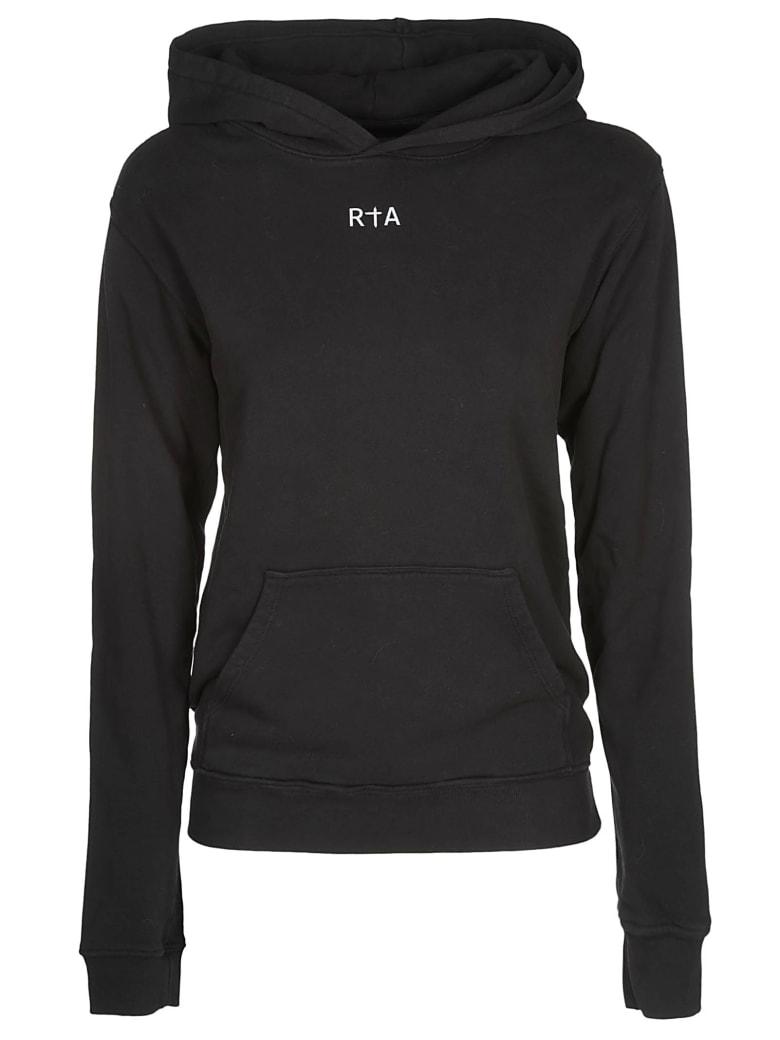 RTA Logo Printed Hoodie - Black