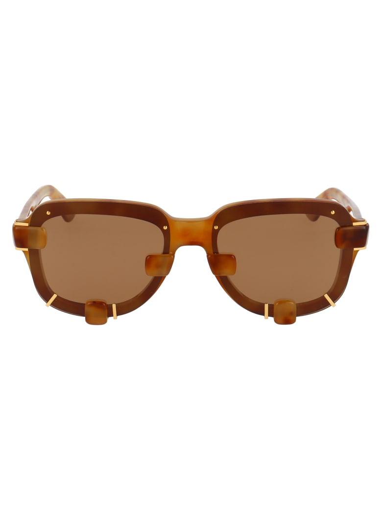 Y/Project Sunglasses - Light Tshell Light Gold Brown