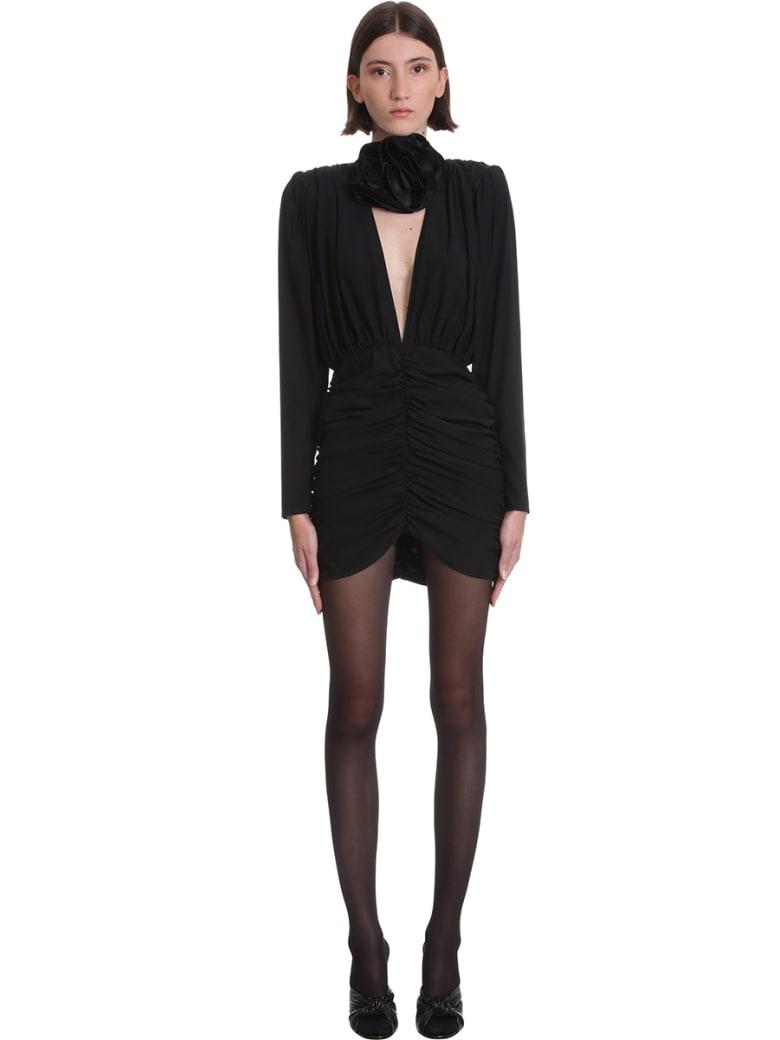Magda Butrym Dress Dress In Black Silk - black