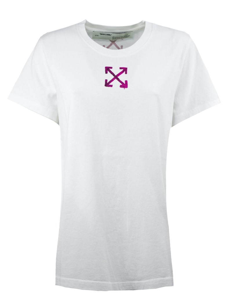 Off-White T-shirt In White Cotton - Bianco