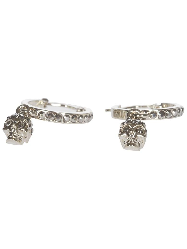 Alexander McQueen Gold-tone Brass Skull Earrings - Gold