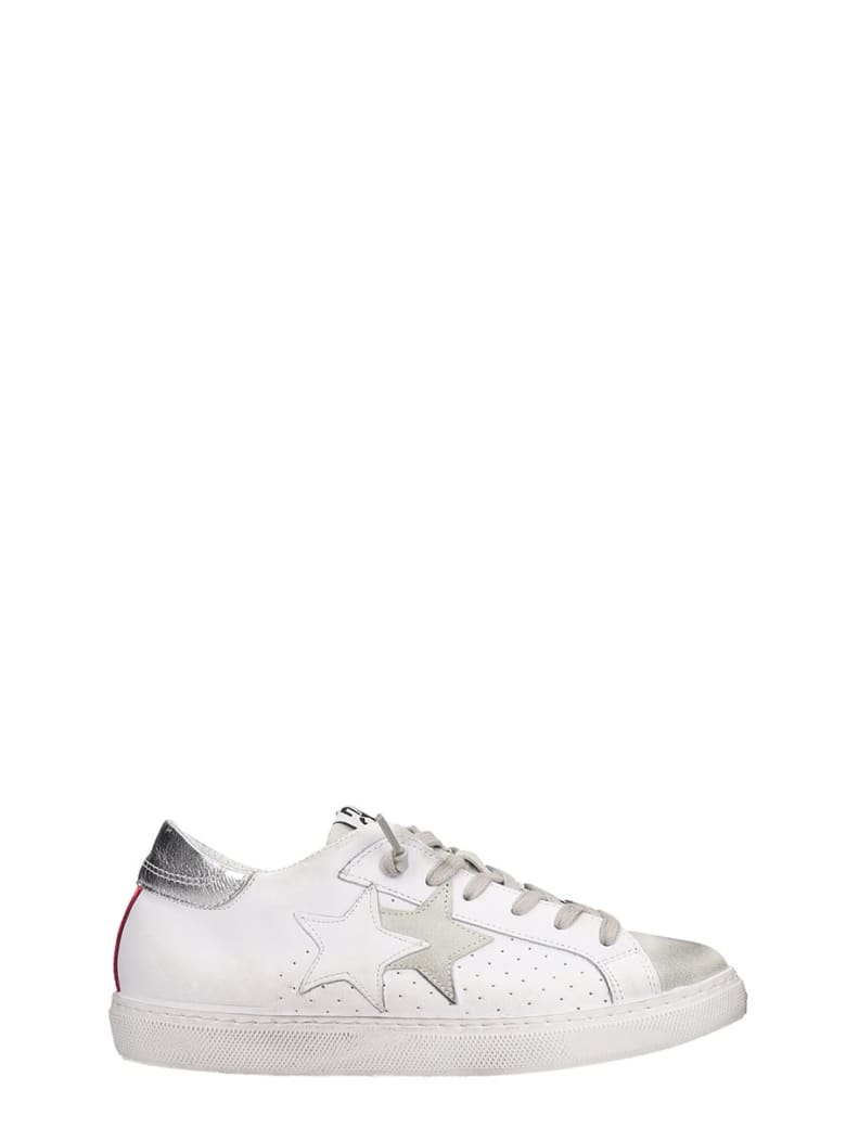 2Star Sneakers In White Suede And Leather - white