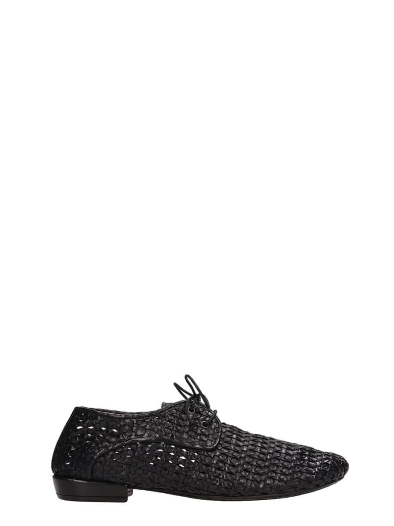 Marsell Black Leather Lace-up Shoes - black