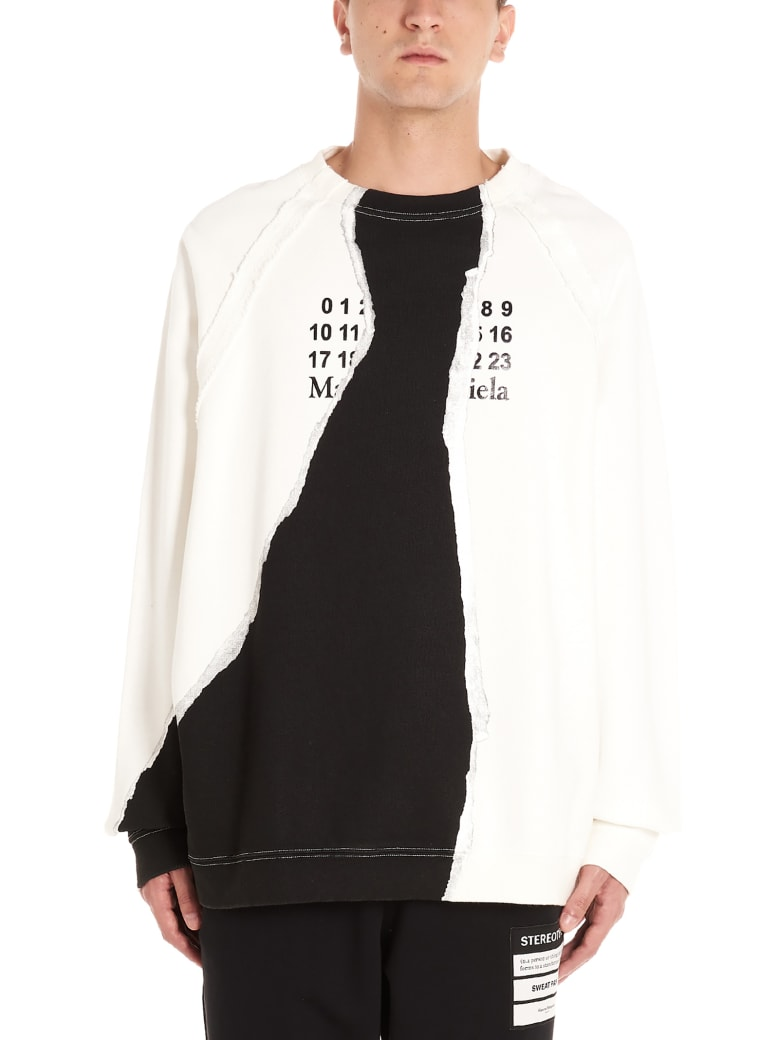 Maison Margiela 'mutinity' Sweatshirt - Black&White
