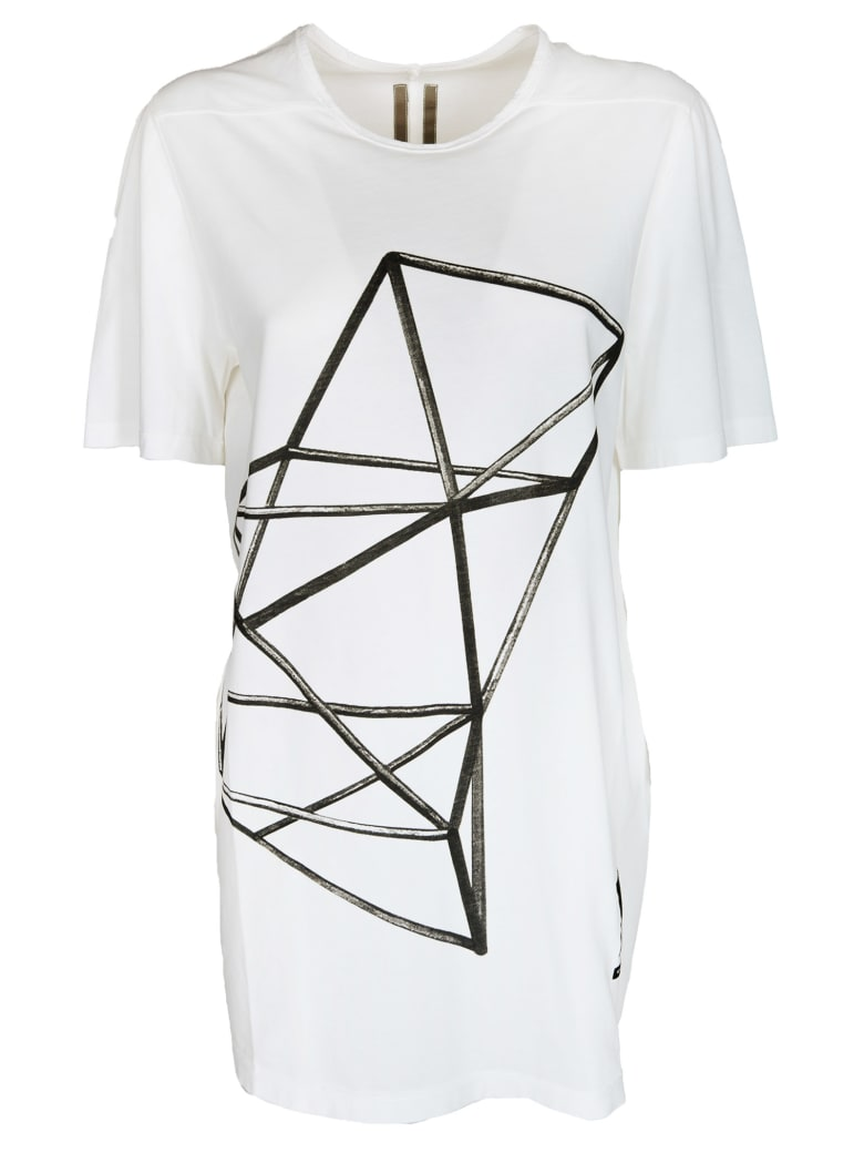 Rick Owens Printed Detail Long T-shirt
