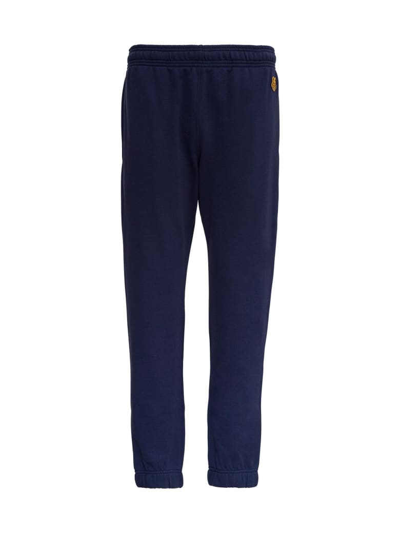 Kenzo Blue Cotton Jogger With Tiger Patch - Blu