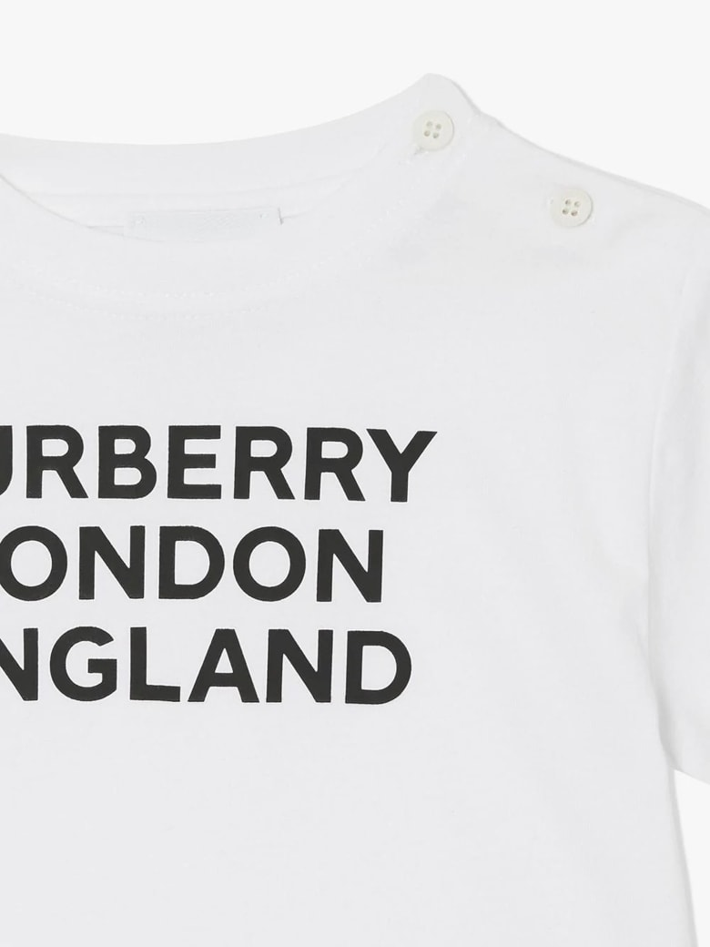 Burberry White Cotton T-shirt - Bianco
