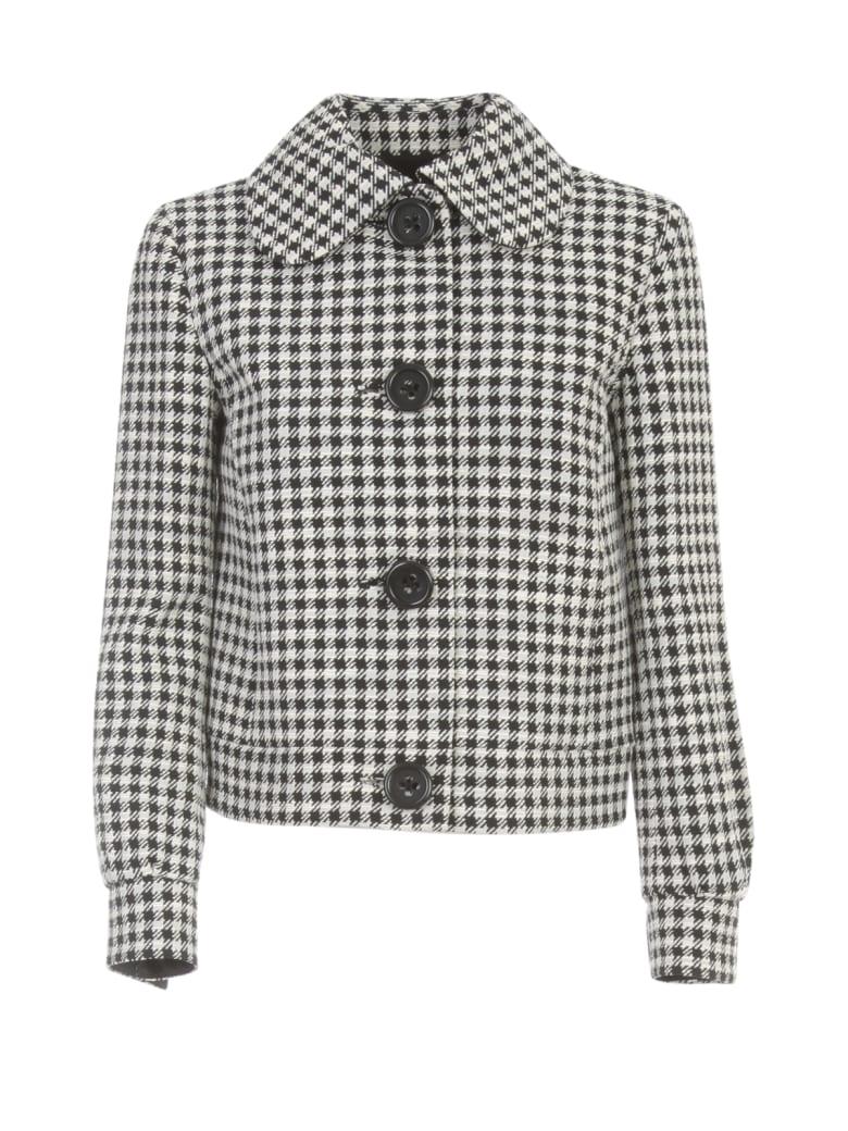 Emporio Armani Short Jacket Pied De Poule - Nero