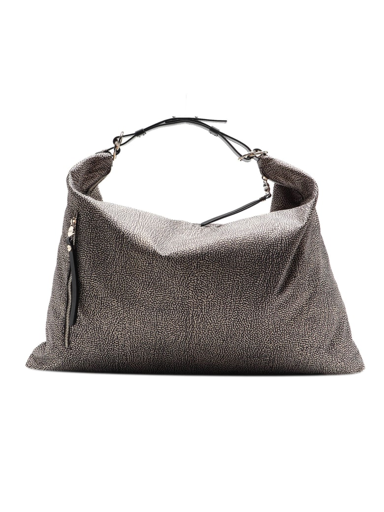 Borbonese Hobo Bag Extra Large - Op Naturale/nero