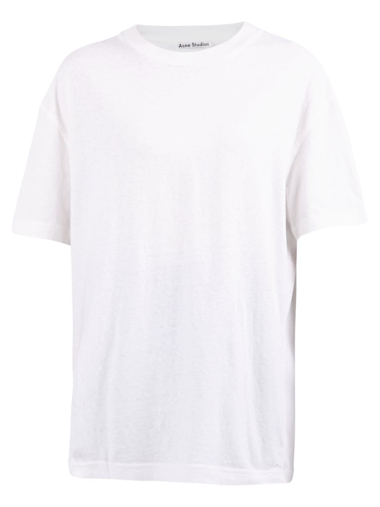 Acne Studios Branded T-shirt - White