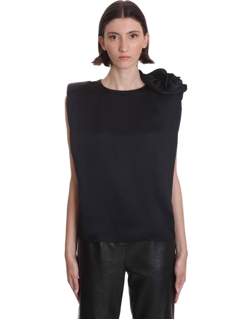 Magda Butrym Czarna Topwear In Black Silk - black