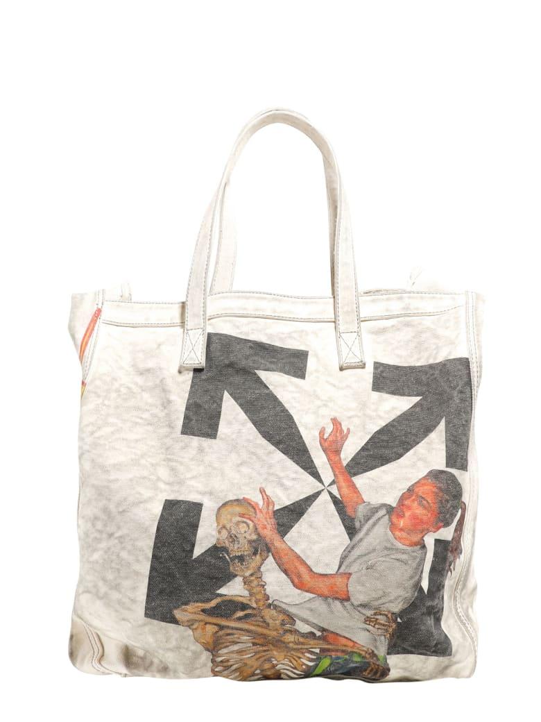 Off-White Pascal Skeleton Shoulder Bag - Beige