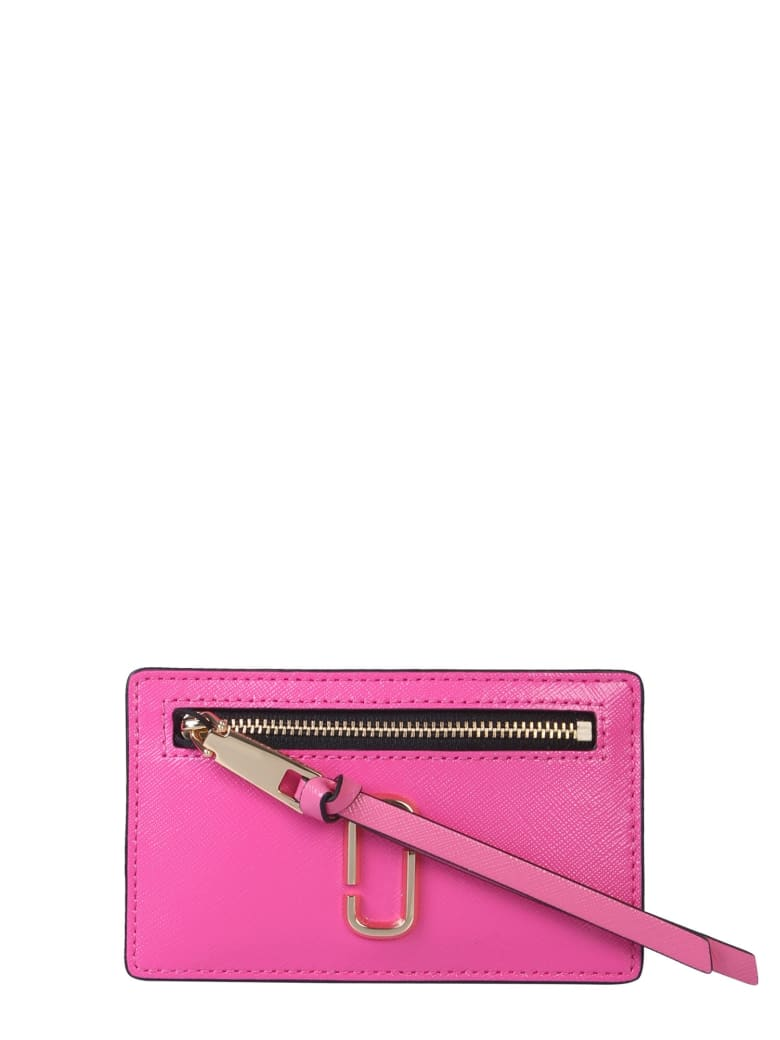 Marc Jacobs Snapshot Leather Card Holder - ROSA
