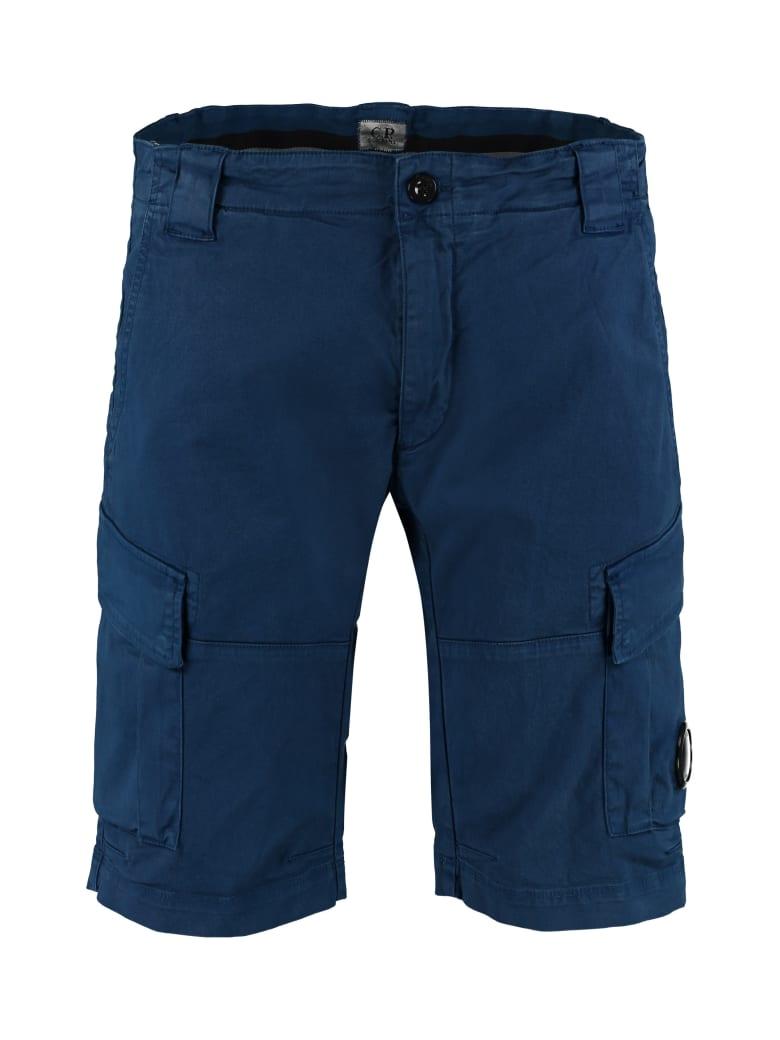 C.P. Company Cotton Cargo Bermuda Shorts - blue