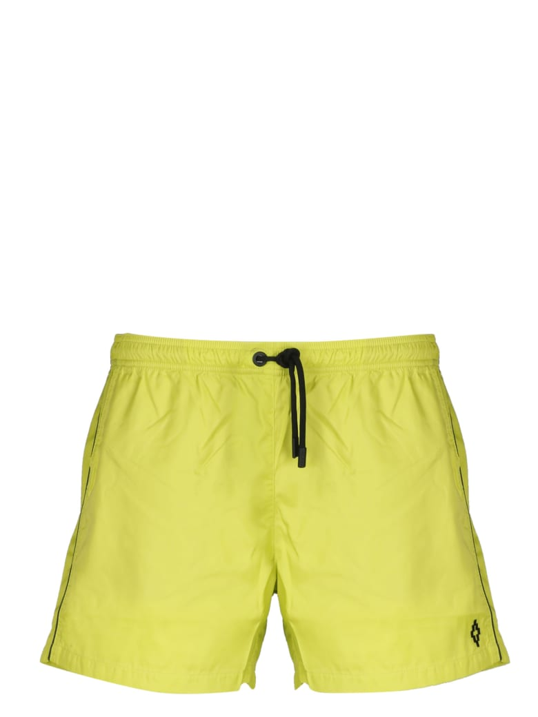 Marcelo Burlon Piping Swimshorts - Yellow & Orange