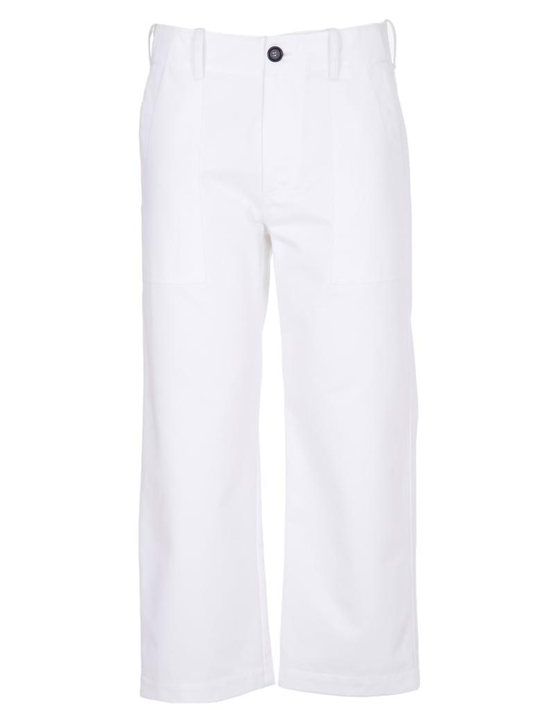 Jejia White Crop Trousers - white