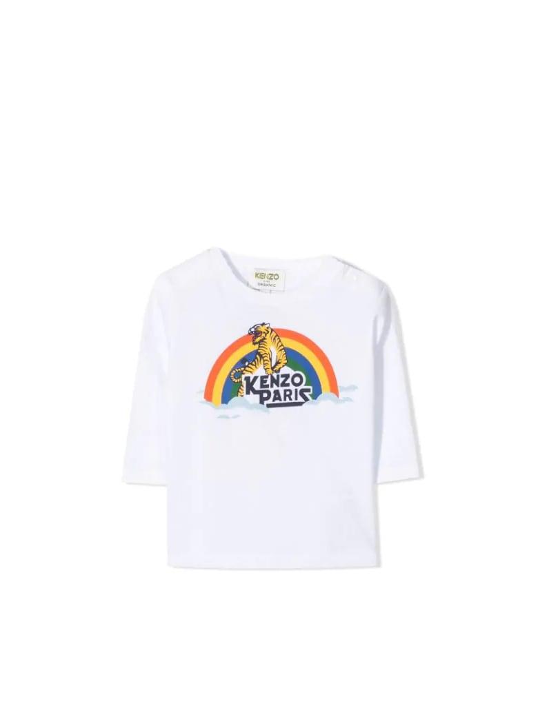 Kenzo Kids Printed T-shirt - Bianco ottico