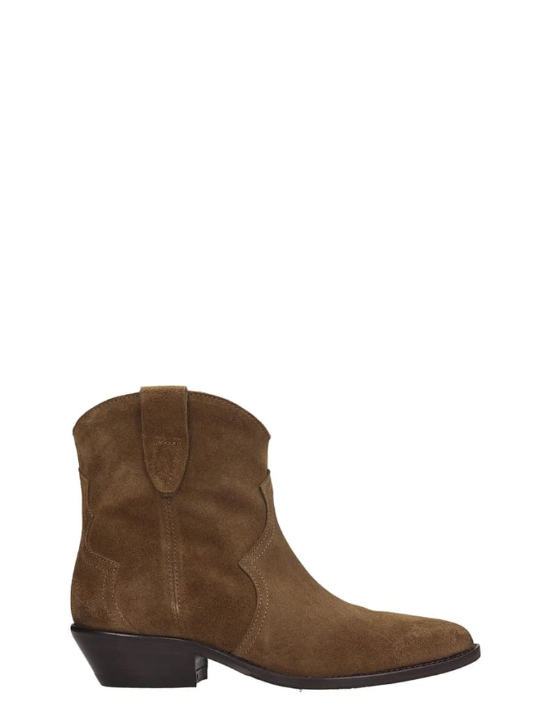 The Seller Ankle Boots In Beige Suede - beige
