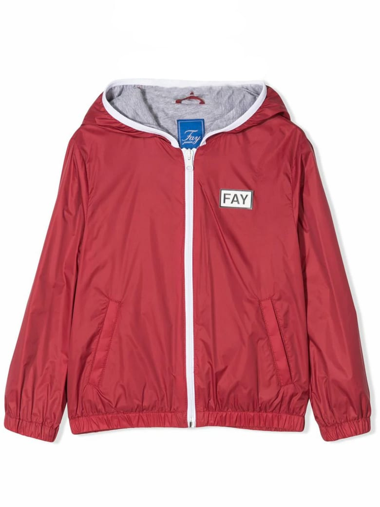 Fay Red Hooded Jacket - Rosso