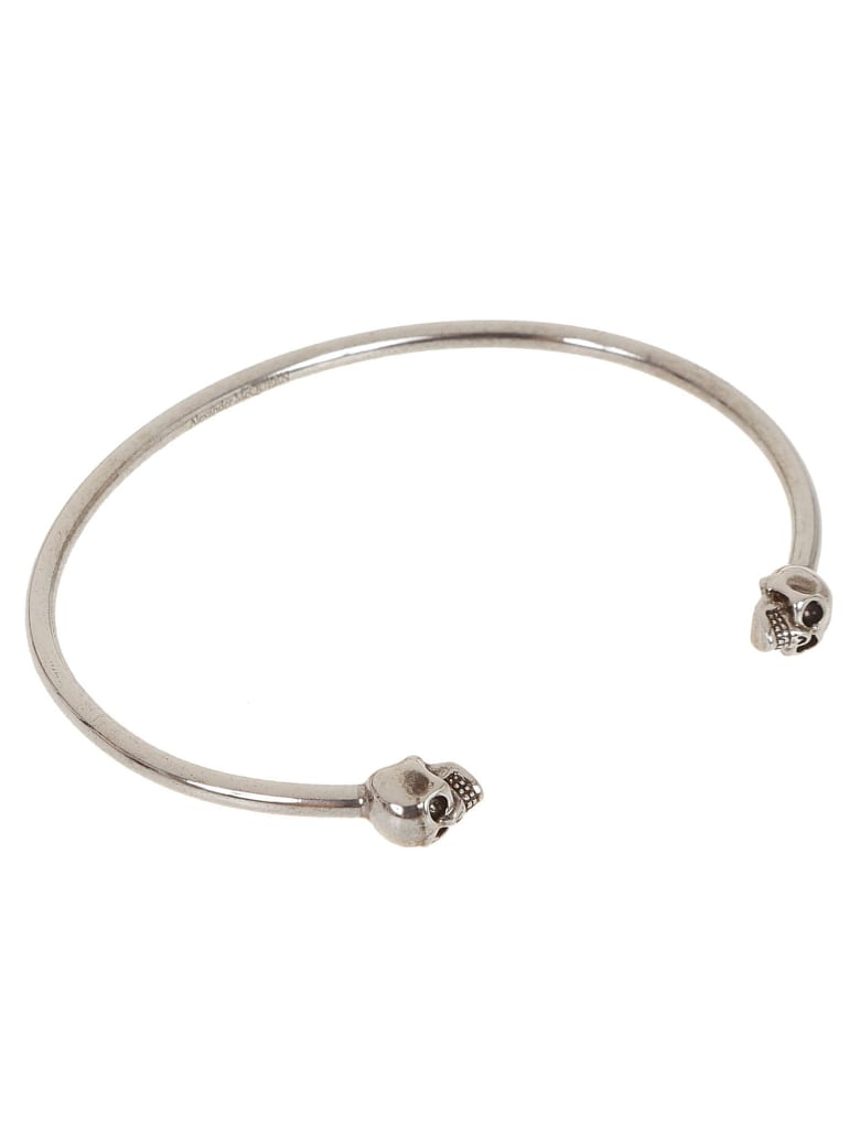 Alexander McQueen Skull Cuff Bracelet - Sil.v.b Antil