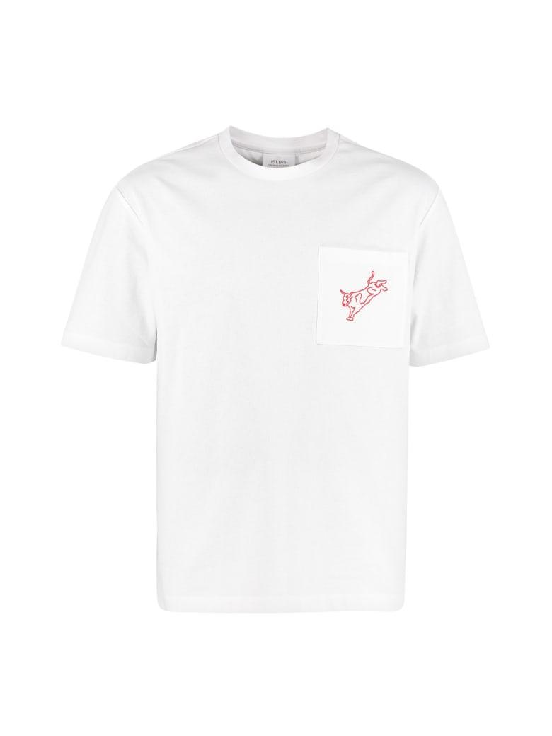 Calvin Klein Jeans Cotton T-shirt With Chest Pocket - White